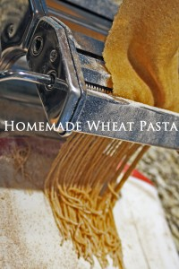 There you have it!  Homemade Wheat Pasta!  You'll look like a rock-star making your own pasta!