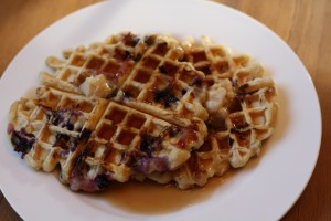 Serve with the Cinnamon-Honey Butter.  Add the desired amount of maple syrup…yum yum yum…eat up!