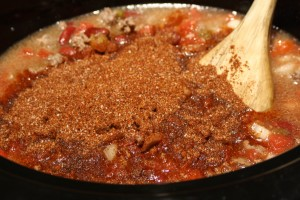 Add in the Chili Seasoning Mix.  Stir to combine.