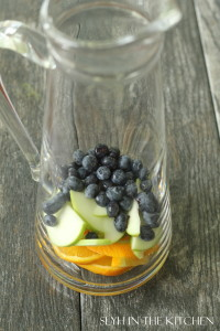 Fruit in a pitcher for Sangria