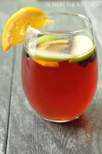 Fruity Sangria in a glass