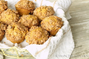 Pumpkin Muffins in basket 2