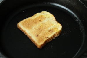Toast in skillet