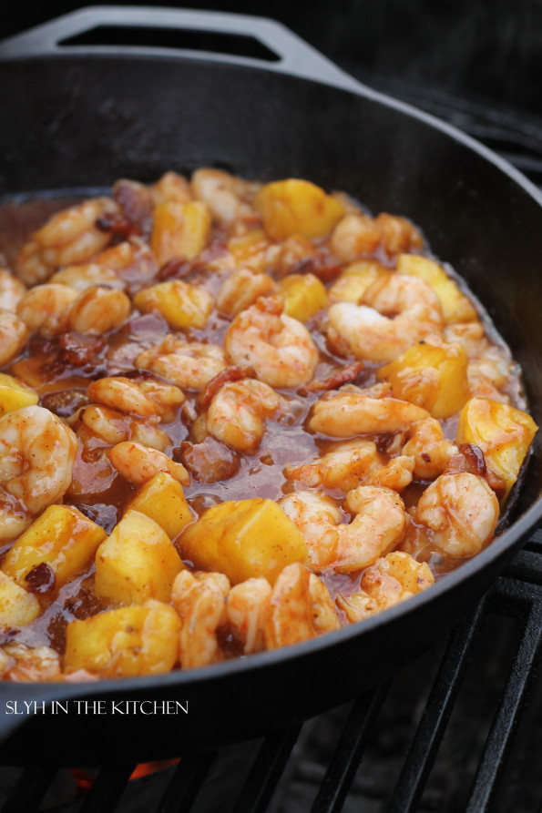 BBQ Pineapple Shrimp Skillet 2