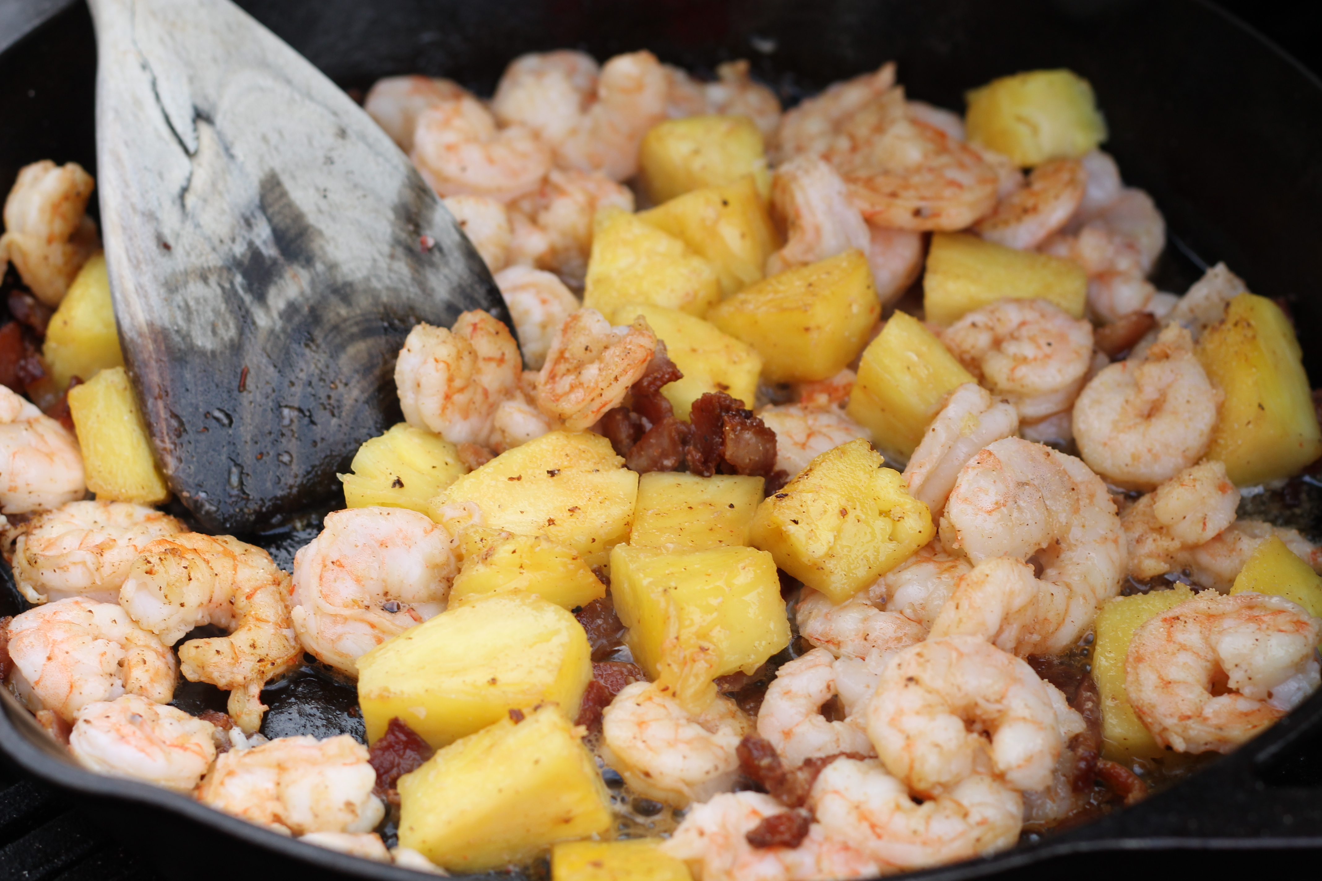Opaque color shrimp once shrimp are cooked - Cooked Shrimp And Pineapple