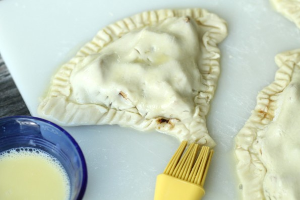 Egg wash hand pies