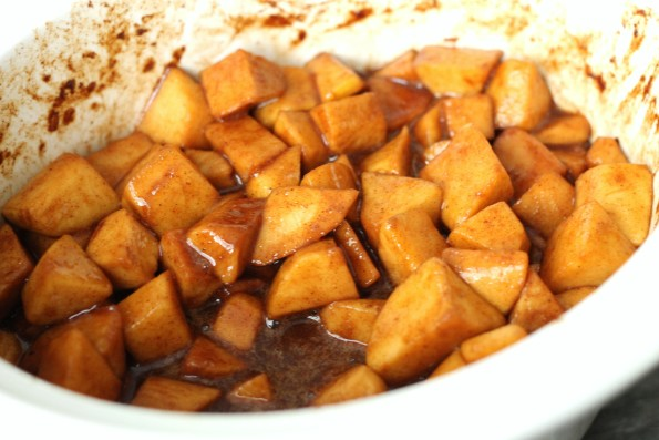 slow cooked apples
