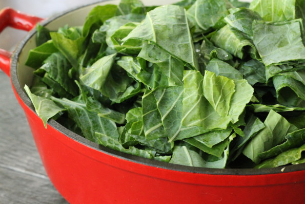 Add Collards to dutch oven