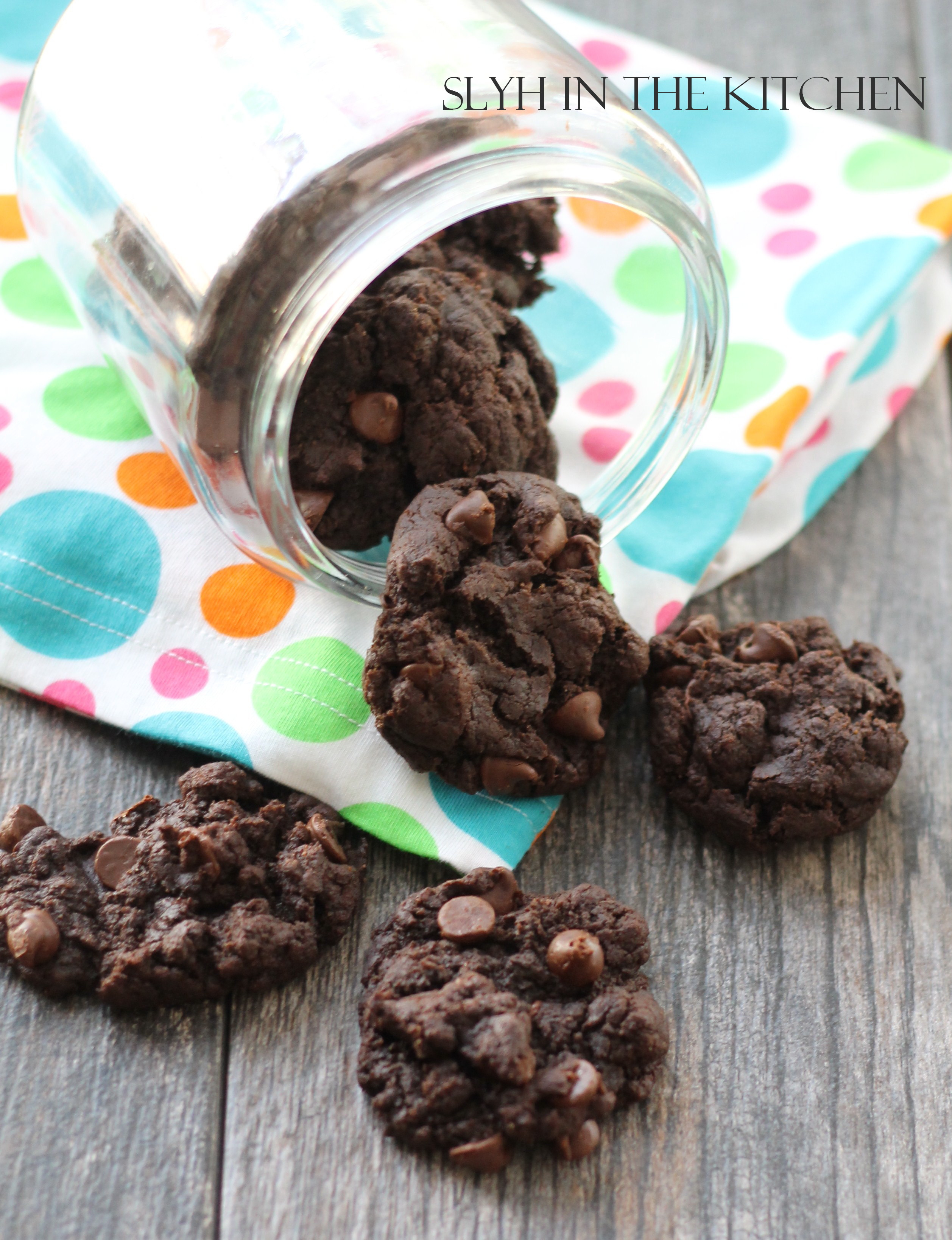 Double Chocolate Chip Cookies | Slyh in the Kitchen