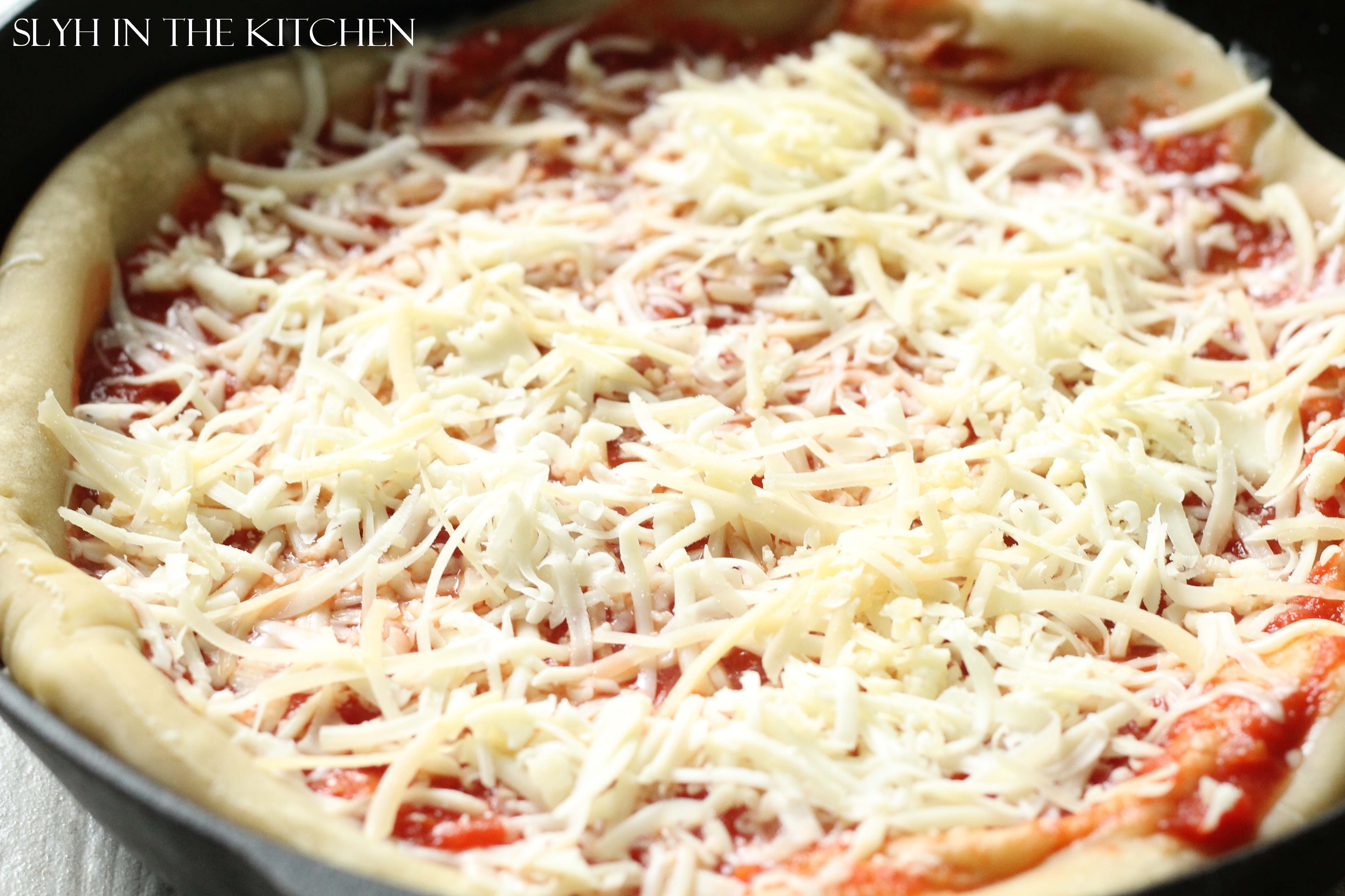 Cast-Iron Margherita Pizza with Pesto | Slyh in the Kitchen